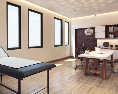 Piccolo Ufficio Moderno : Foto e idee per uffici ufficio moderno con pavimento in terracotta