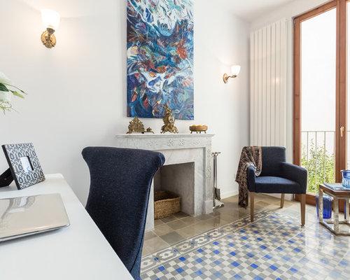Ideas para despachos   Diseños de despachos con marco de chimenea de ...