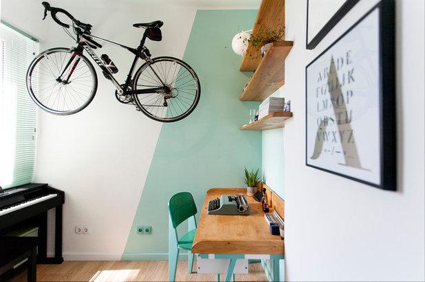 Contemporary Home Office & Library by Le Sable Indigo Interiors