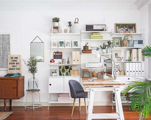 Kleines arbeitszimmer mit wei en w nden einrichten ideen - Kleines arbeitszimmer ...