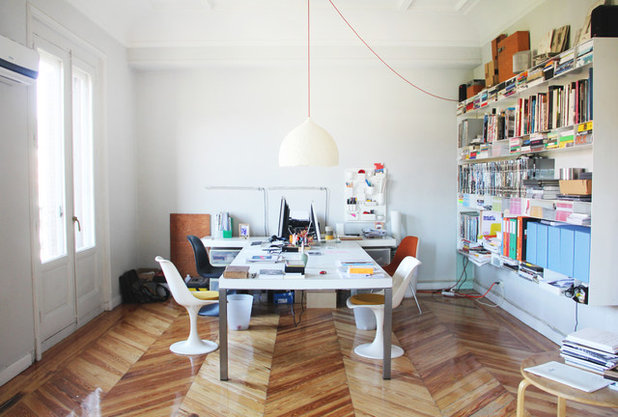 Contemporary Home Office & Library by Karin & Sara