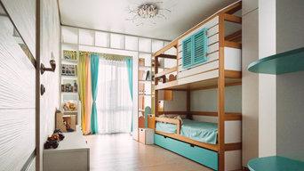 Детская комната 16кв. м. для мальчика 2 лет