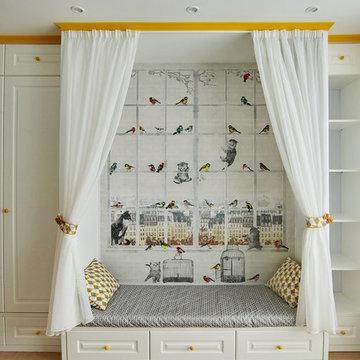 Детская комната для девочки в скандинавском стиле