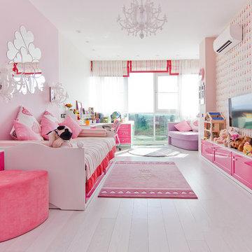 Детская комната для девочки в ЖК Riche Ville