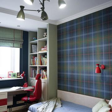 Дизайн 3-комнатной квартиры с детской для двух мальчиков