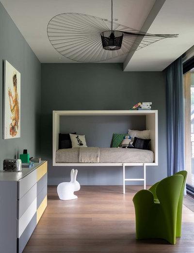 Contemporáneo Dormitorio infantil by 4a Architekten Moscow