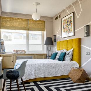 Стильный дизайн: детская в стиле фьюжн с спальным местом и бежевыми стенами - последний тренд