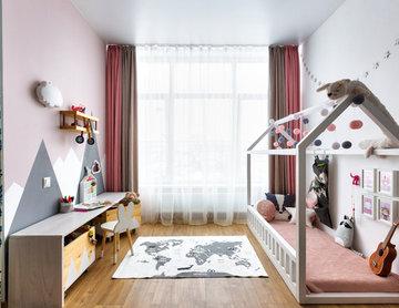 Однокомнатная квартира-студия для семьи с ребенком