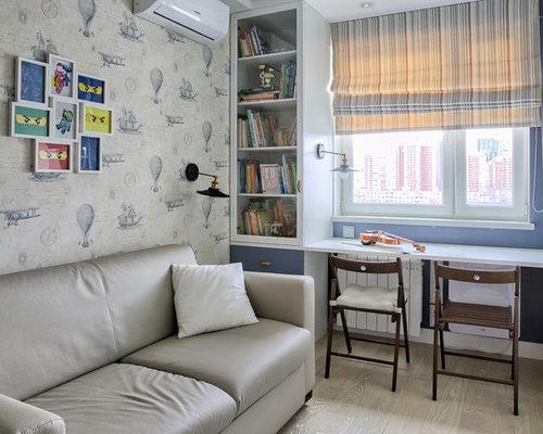 Chambre d enfant avec un bureau et un mur noir photos et idées