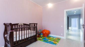 Потолок в детскую комнату с лоджией