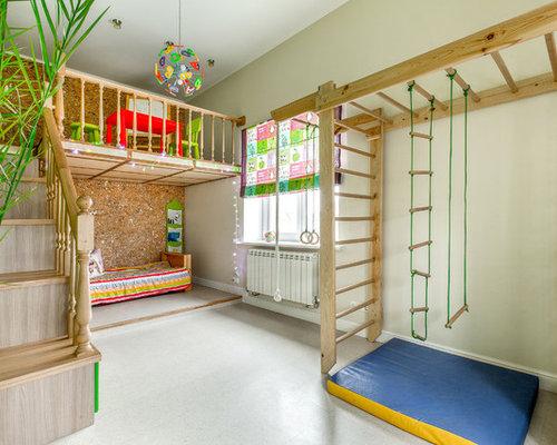 Eklektische kinderzimmer mit grauen w nden gestalten ideen design houzz - Houzz kinderzimmer ...