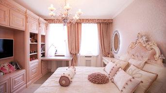 Спальни из розовой мечты: оформление кроватей; покрывала, валики, подушки