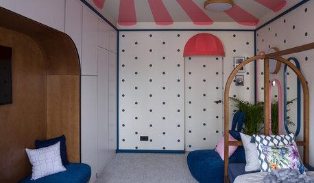 Проект недели: Детская в горошек с потолком-шатром