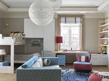 гостиная и детская в одной комнате 16 фото дизайн интерьера
