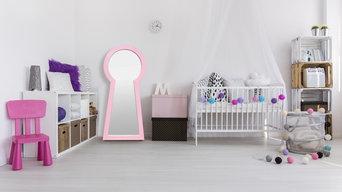 Зеркало Замочная Скважина в интерьере детской комнаты