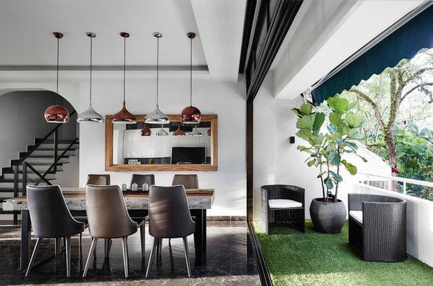 Contemporary Dining Room by akiHAUS Design Studio