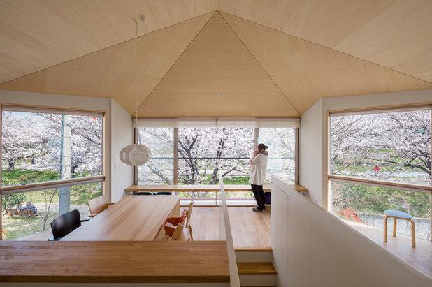 Japansk stil fyra moderna hem med det b sta fr n landets for Architecture japonaise moderne