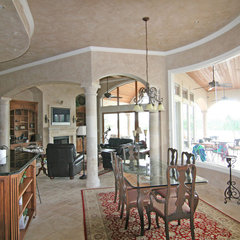mediterranean dining room by HAJEK & Associates, Inc.
