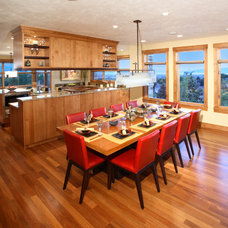 Contemporary Dining Room by Magleby Construction