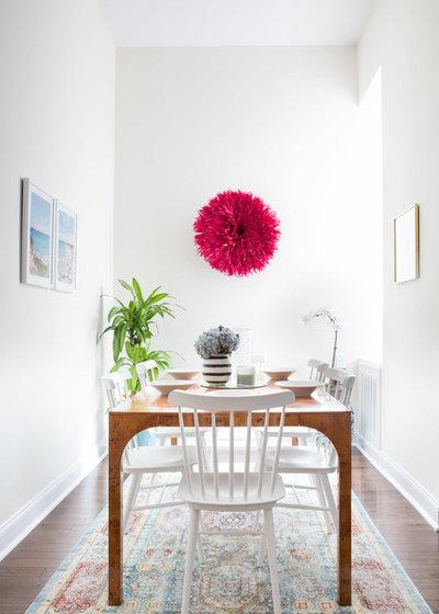 Transitional Dining Room by Megan Hopp Design