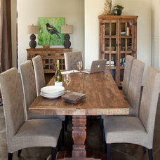 Eclectic Dining Room by I.O. Metro