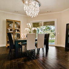 Transitional Dining Room by I.O. Metro