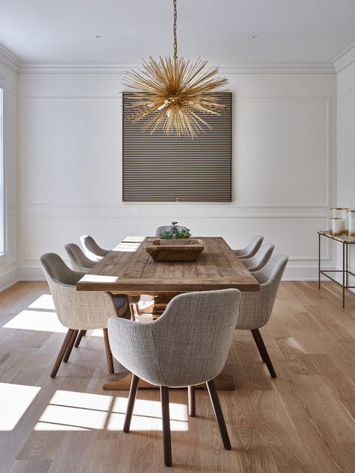 Dining Room   Contemporary Medium Tone Wood Floor And Brown Floor Dining  Room Idea In New