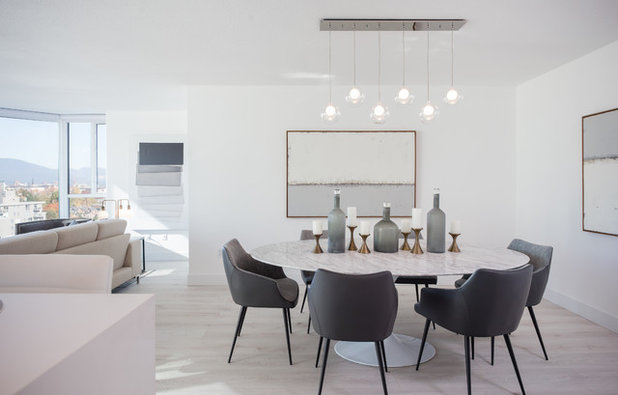 Contemporary Dining Room by AEWILL CONSTRUCTION INC.