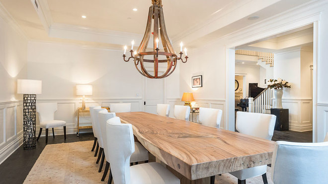 Transitional Dining Room by Meridith Baer Home