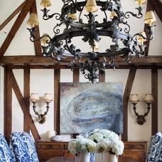 Mediterranean Dining Room by Tiffany Farha Design