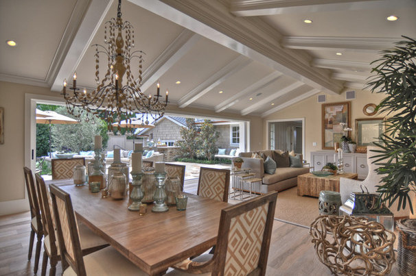Beach Style Dining Room by Spinnaker Development