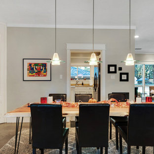 Inspiration For A Transitional Concrete Floor And Gray Floor Dining Room  Remodel In Other With Gray