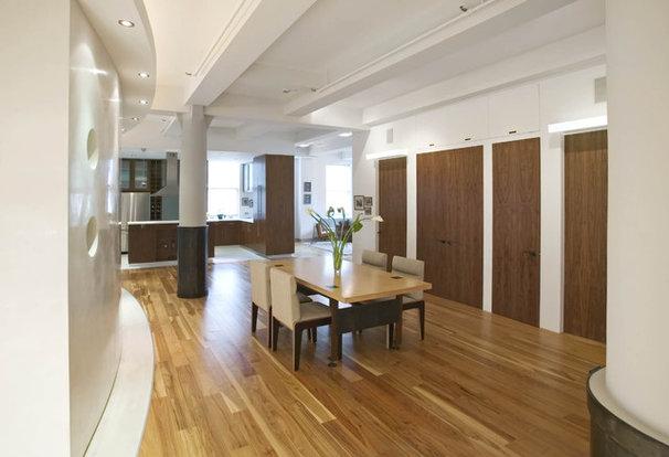 Contemporary Dining Room by Eisner Design LLC