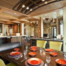 Rustic Dining Room by Jaffa Group Design Build