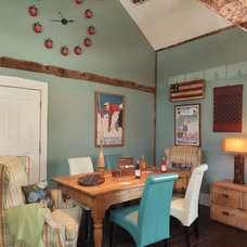 Farmhouse Dining Room by Mandeville Canyon Design