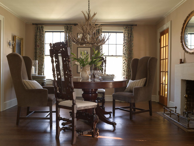 Houzz tour respectfully updating a 1929 farmhouse for Updating a traditional dining room