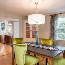 Contemporary Dining Room by New England Design Elements
