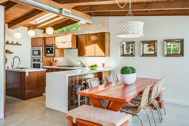Midcentury Dining Room by Michelle Lord Interiors