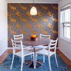 Eclectic Dining Room by Amanda Miller Design Studio