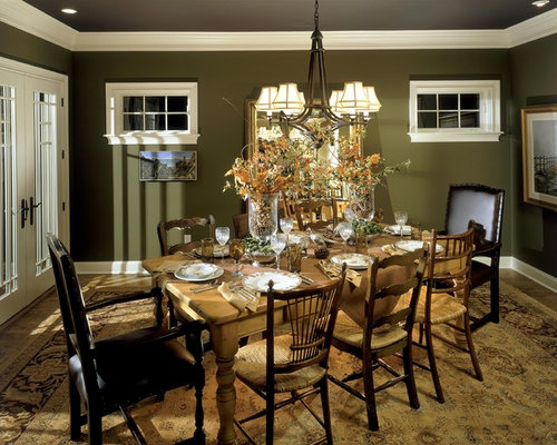 elegant living room photo in boston - Dining Room Wall Colors With Dark