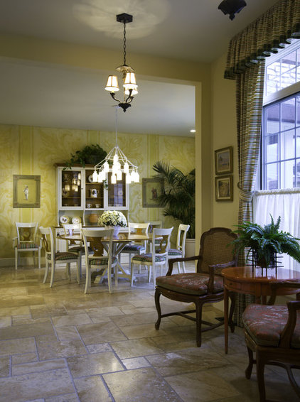 mediterranean dining room by Rick L Lawrence, AIA, NCARB