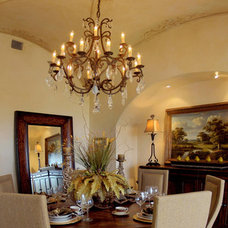 Mediterranean Dining Room by Design Visions of Austin