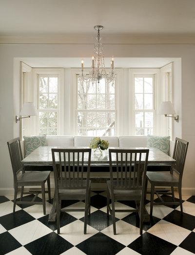 Traditional Dining Room by Deborah Scheck