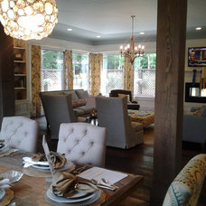 Eclectic Dining Room by Homeworks of Alabama, Inc