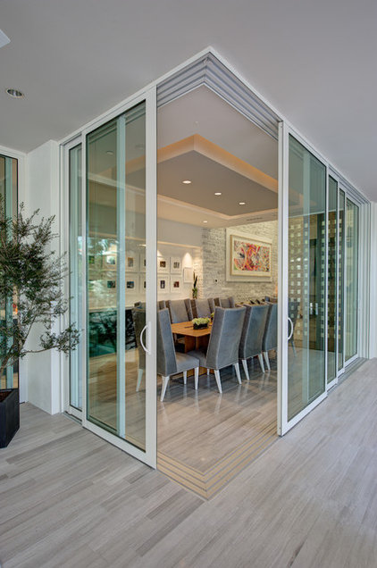 contemporary dining room by Phil Kean Designs