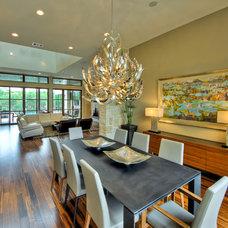 Contemporary Dining Room by Adam Wilson Custom Homes