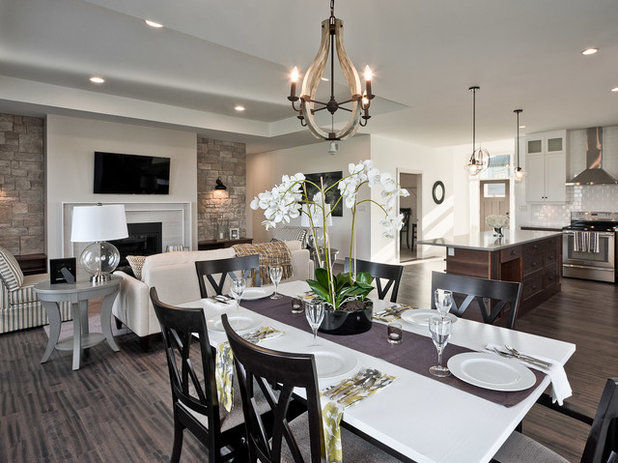 Transitional Dining Room by Dowalt Custom Homes Inc