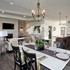 Transitional Dining Room by Dowalt Custom Homes Inc