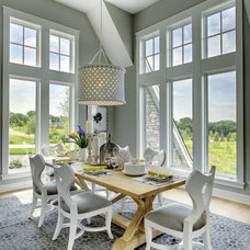 Transitional Dining Room by Carl M. Hansen Companies