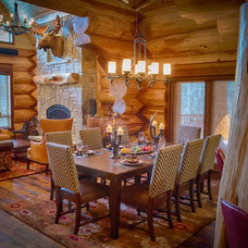 Traditional Dining Room by Mountain Log Homes & Interiors